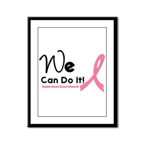 We Can Do It Breast Cancer Framed Panel Print