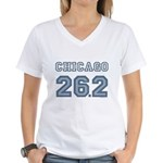 Chicago 26.2 Marathoner Women's V-Neck T-Shirt