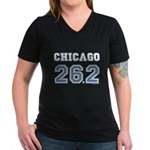 Chicago 26.2 Marathoner Women's V-Neck Dark T-Shir