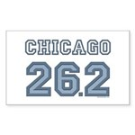 Chicago 26.2 Marathoner Rectangle Sticker 10 pk)