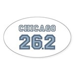 Chicago 26.2 Marathoner Oval Sticker (10 pk)