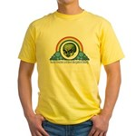 Wizard of Oz Rainbow Quote 1 Yellow T-Shirt