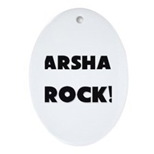 Marshals ROCK Oval Ornament