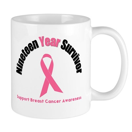 19 Year Breast Cancer Survivor Mug