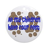 Four-Footed Children Ornament (Round)