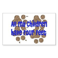 Four-Footed Children Rectangle Decal