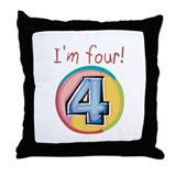 I'm Four Throw Pillow