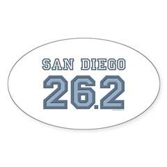 San Diego 26.2 Marathoner Oval Sticker (10 pk)