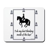Dressage Box Thinking Mousepad