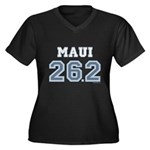 Maui 26.2 Marathoner Women's Plus Size V-Neck Dark