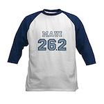 Maui 26.2 Marathoner Kids Baseball Jersey