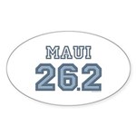 Maui 26.2 Marathoner Oval Sticker (10 pk)