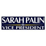 Sarah Palin for Vice President Bumper Bumper Sticker