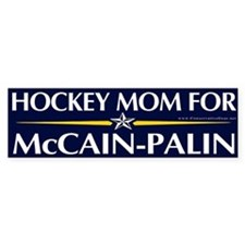 Hockey Mom for McCain-Palin Bumper Car Sticker