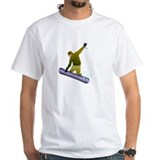 SNOWBOARDER GRAPHIC WHITE T SHIRT