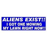 Alien Bumper Bumper Sticker
