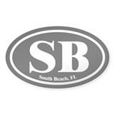 South Beach SB Euro Oval Oval Decal
