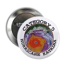 "Hurricane Katrina Satelitte Cat 5 2.25"" Button (10"
