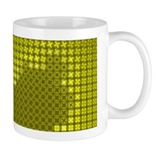 Julia Set Map Mug, yellow, z^4
