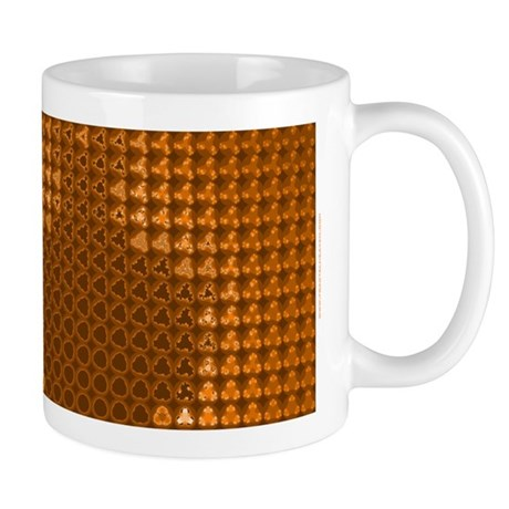 Julia Set Map Mug, orange, z^3