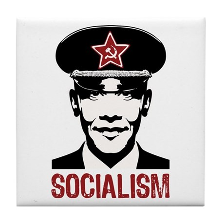 Obama Socialism Tile Coaster