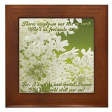 Memaw White Jasmine Framed Tile