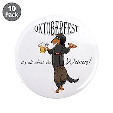 """LHBT Oktoberfest Dachsie 3.5"""" Button (10 pack)"""