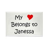 Janessa Rectangle Magnet (100 pack)
