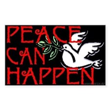 Peace Can Happen Rectangle Decal