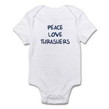 Peace, Love, Thrashers Infant Bodysuit