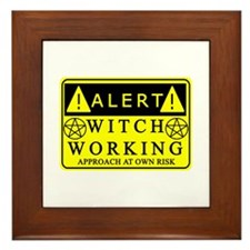 Approach Witch at Own Risk Framed Tile