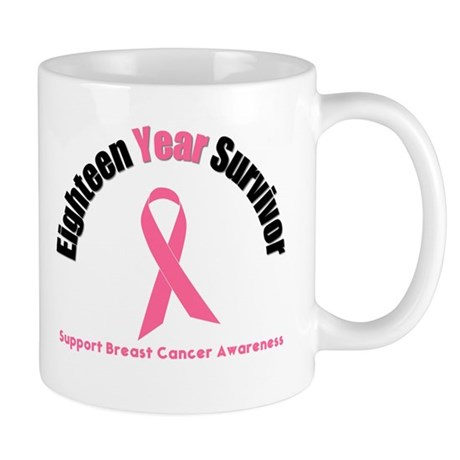 18 Year Breast Cancer Survivor Mug
