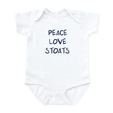 Peace, Love, Stoats Infant Bodysuit