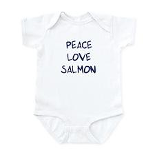 Peace, Love, Salmon Infant Bodysuit