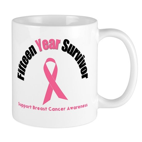 15 Year Breast Cancer Survivor Mug