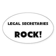 Legal Secretaries ROCK Oval Decal