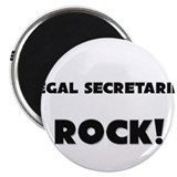 Legal Secretaries ROCK 2.25&quot; Magnet (10 pack)