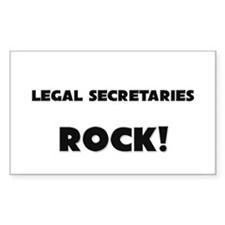 Legal Secretaries ROCK Rectangle Decal