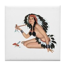 Indian Girl Tile Coaster
