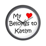 Unique Heart katlyn Wall Clock