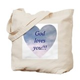 God Loves You Tote Bag