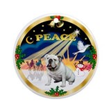 XmasSunrise/ Engilsh Bulldog Ornament (Round)