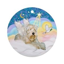 Clouds/ Wheaten Angel Ornament (Round)