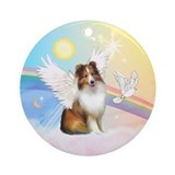 Clouds/ Sheltie #4 Angel Ornament (Round)