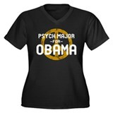 Psych Major for Obama Women's Plus Size V-Neck Dar