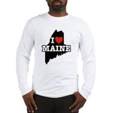 I Love Maine Long Sleeve T-Shirt