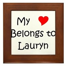 Love lauryn Framed Tile