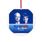 McCain Palin for America Ornament (Round)