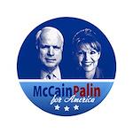 "McCain Palin for America 3.5"" Button"