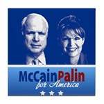 McCain Palin for America Tile Coaster